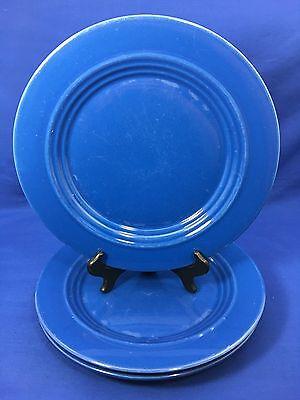 (Bosco Ware Dinner Plates Dark Blue Embossed inner Rings Boscoware Set Of 3)