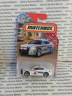 MATCHBOX DODGE CHARGER 4 DOOR SEDAN POLICE CRUISER MBX RESCUE 20/20 WHITE