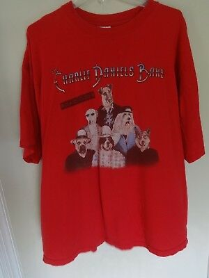 "Vtg 2000 Charlie Daniels Band ""Road Dogs"" Tour Graphic Rock Band T-Shirt Men 2XL"