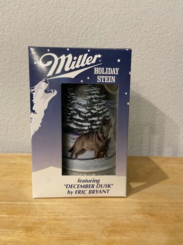 "1999 MILLER Holiday Stein ""DECEMBER DUSK"" by ERIC BRYANT #060601 - New In Box!"