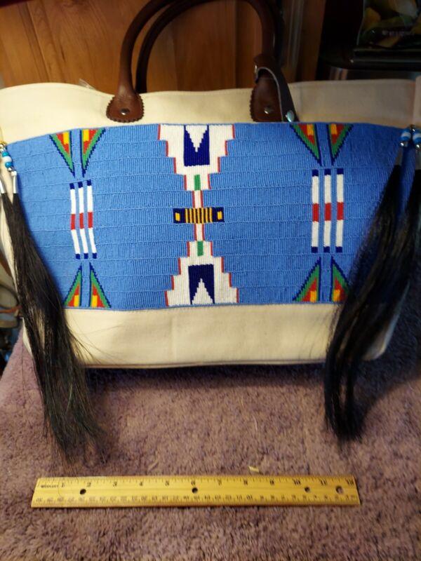 Native American Inspired Beaded Large Bag