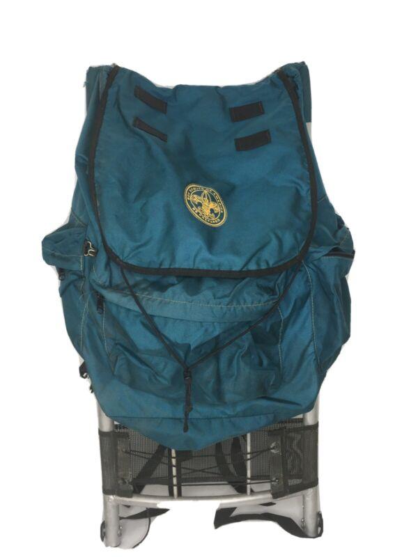 SALE! Vintage Boy Scout Blue Back Pack with External Frame; lots of pockets
