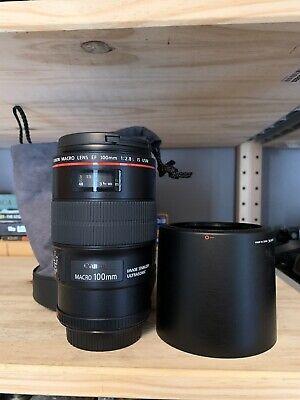 Canon EF 100mm f/2.8 L IS USM Macro Camera Lens