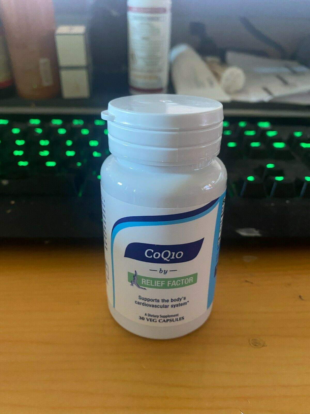 Relief Factor CoQ10 - 1 Bottle/30 Veg Capsules - EXP 5/2026 - FREE SHIPPING!