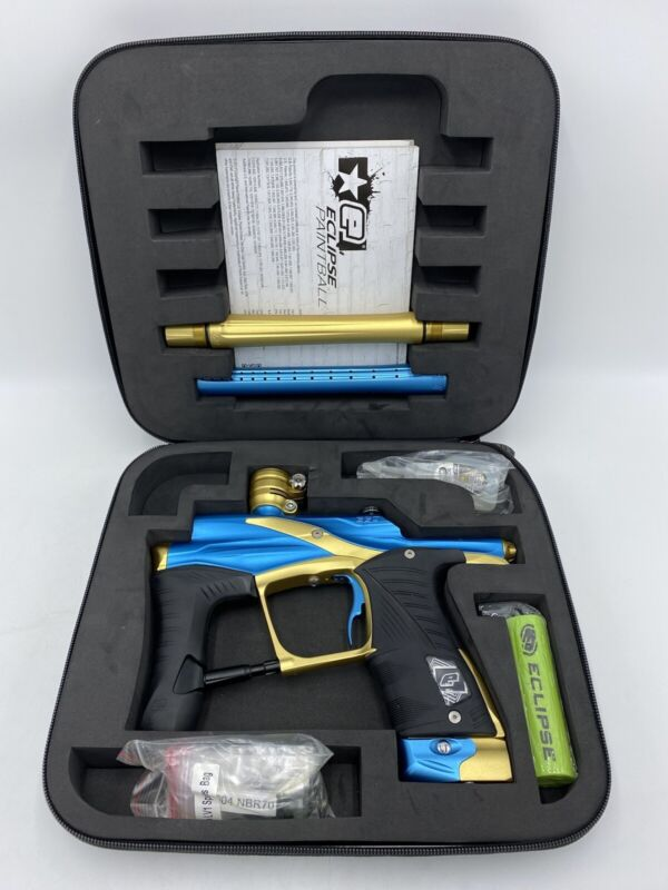 Planet Eclipse LV1 Ego Paintball Marker - Superblue Blue/Gold - Great Condition