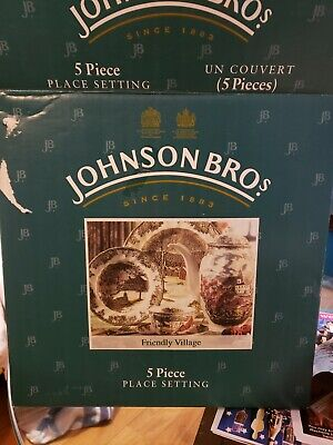 Johnson Brothers Friendly Village 5 Piece Place Setting.