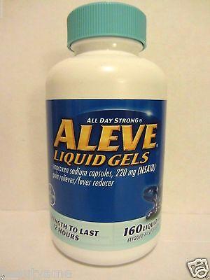 Aleve Liquid Gels Naproxen Sodium 220Mg  160 Liquid Gels  Pain   Fever Reducer