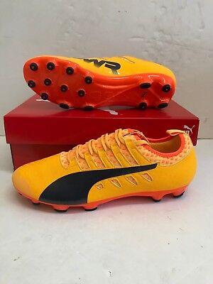 Puma Men's evoPOWER Vigor 2 AG Football Boots - UK 10.5 - Yellow - New