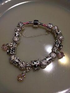 NEW* Women's Pink Braided Leather Owl Charm Bracelet London Ontario image 2