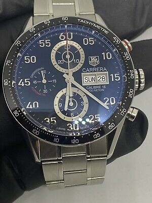 Tag Heuer CARRERA  Used CALIBRE 16 Day-Date CHRONOGRAPH CV2A10 Rkm3419