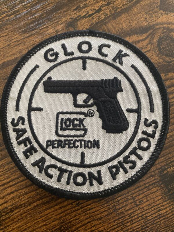 Glock Perfection Moral Morale Patch~Safe Action Pistols~Round Embroidered Silver