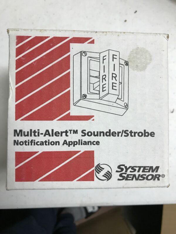 NEW System Sensor Sounder/Strobe 1. 5cd 12 VDC RED UL FM CSFM MASS12L0