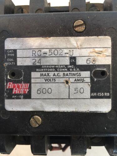 Arrow Hart Rc 502-U Contactor