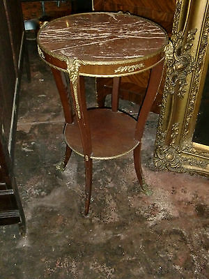 ANTIQUE FRENCH LXV STYLE BRONZE DECORATIONS, MARBLE TOP 19TH C CENTER TABLE - French Table Decorations