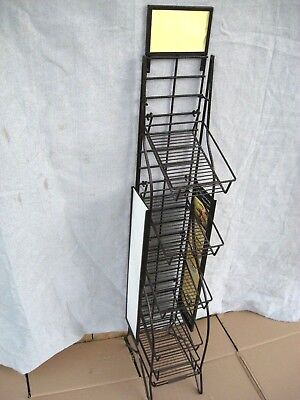 Metal Retails Adjustable Basket Metal Floor Display Rack