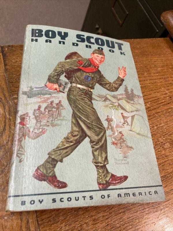 BOY SCOUT HANDBOOK 1959 Boy Scouts of America BSA Vintage Manual Norman Rockwell