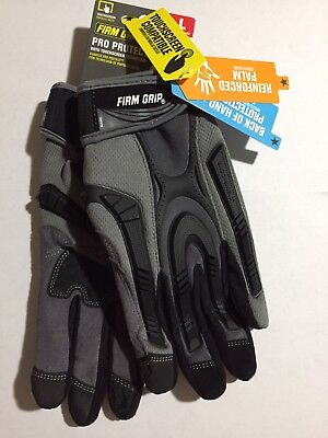Firm Grip Pro Protect Heavy Duty Large Gloves with -