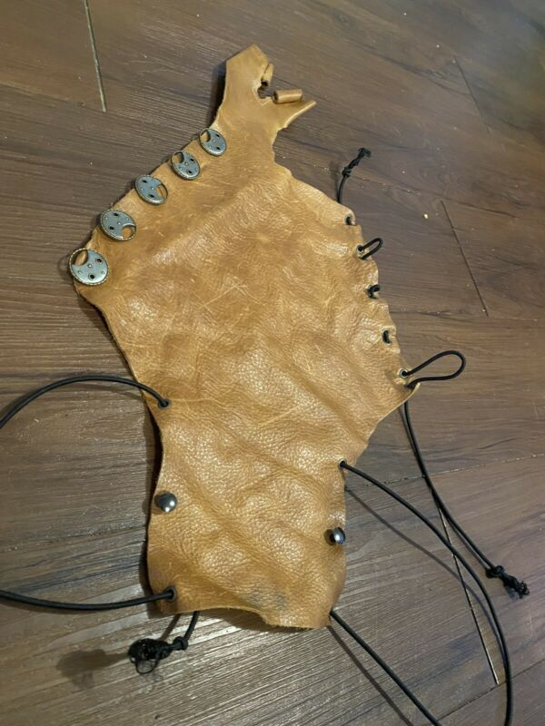 Archery Arm Guard Real Leather Renaissance Hand Crafted One Of A Kind Adjustable