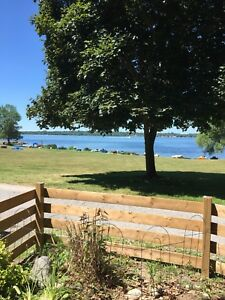 PIGEON LAKE CAMPERS RESORT WATER FRONT LOT AND TRAILER