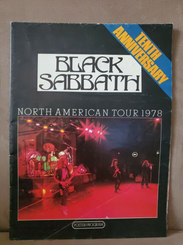 Black Sabbath: North American Tour 1978 Poster Book/Program (Ozzy)
