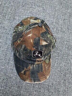 John Deere Cap Camo Hat Green Mesh Adjustable Mens Brown Back - Brown Mesh Green