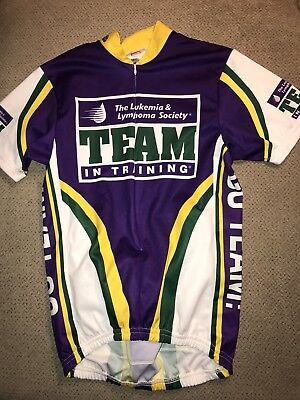 Mens Pace Team In Training Leukemia Cycling Jersey Small S 2541ff42a