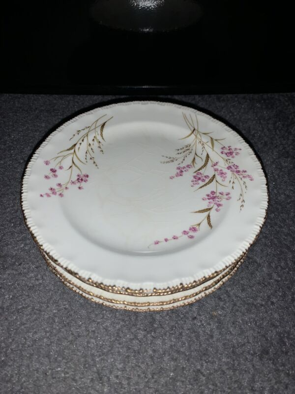 Pope Gosser China Valerie Saucer Plate Vintage Made In USA Set Lot Of 6 #57 Used