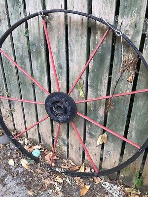 Large Iron Wagon Wheel