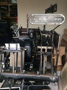 Original Heidelberg letterpress