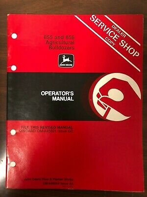 John Deere Manual 855 Bulldozer Oma48054