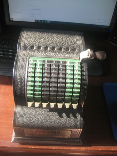 Antique Adding Machine 1912 to 1914 American Can Company Chicago Model 0 Working