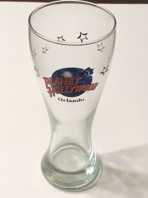 Planet Hollywood Orlando Souvenir Beer Glass Pint Pilsner Size Heavy Tall Large