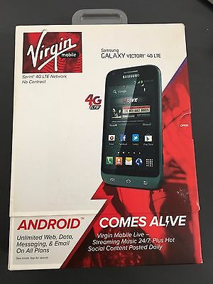 New Samsung Galaxy Victory Sph L300   4Gb   Silver  Virgin Mobile  Smartphone
