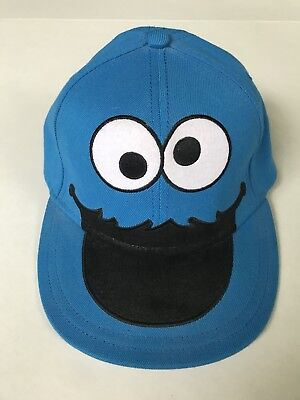 Cookie Monster Hat (Cookie Monster Blue Sesame Street Hat Cap Flex Stretch Band Fitted)