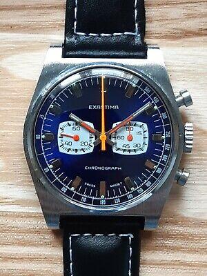 Exactima Vintage 1960s Chronograph Watch Cimier Rego 2370