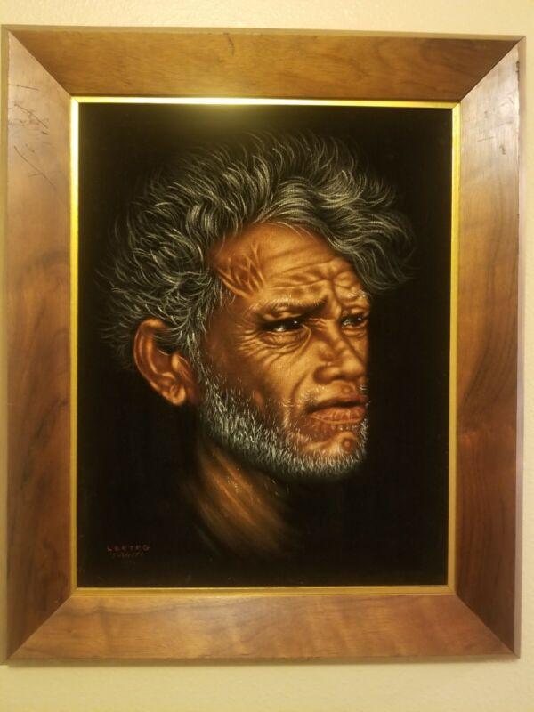 Edgar William Leeteg Old Tahitian Chief on velvet copy