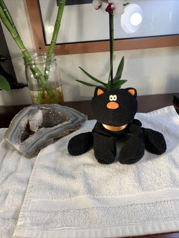 Vintage Hallmark Halloween Stuffed Black Cat Toy Decor 1985 Hocus Pocus RARE