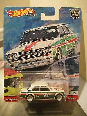 Hot Wheels Premium Car Culture Door Slammers '71 Datsun 510 real riders
