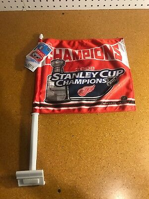 NHL Detroit Red Wings 2008 Stanley Cup Champions Car Flag Double Sided