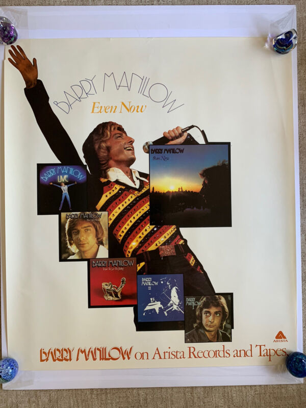 "Original Huge Barry Manilow Even Now Promotional Poster 35"" x 40.5"" Live I II"