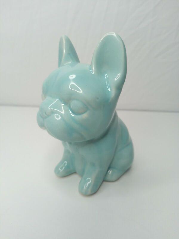 French Bulldog Ceramic Pale Turquoise Bank