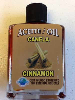 MYSTICAL / SPIRITUAL OIL (ACEITE) FOR SPELLS & ANOINTING 1/2 OZ CINNAMON CANELA