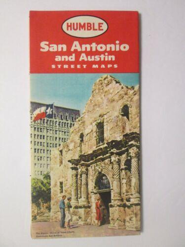 Humble Map of Austin and San Antonio 1957