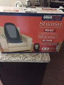 Massage chair pad with heat