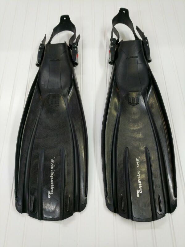 Mares Plana AvantiQuattro Abs Open Heel Scuba Diving Fins, Regular Devgru Navy