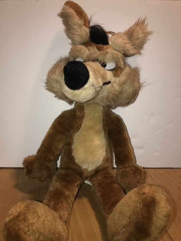 """Vintage 1971 Warner Bros. Mighty Star 21"""" Wile E. Coyote Plush Looney Tunes"""