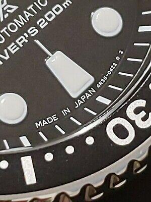 😁New Seiko Prospex Automatic Diver Black Dial Silicone Strap Mens Watch SRP777