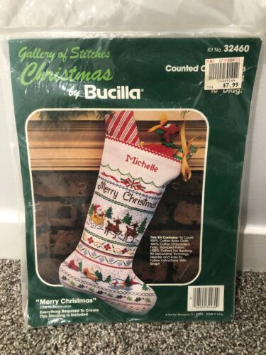 NEW Bucilla MERRY CHRISTMAS Heirloom Counted Cross Stitch ST