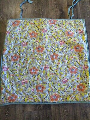 Pottery Barn Quilted Floral Standard Pillow Sham Tie Close Reversible yellow