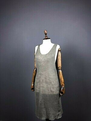 Isabel Benenato Women's Linen Grey Dress Size L